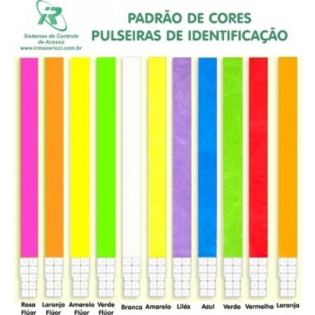 PULSEIRAS DE IDENTIFICAÇÃO EM MATERIAL SINTÉTICO. Caixa com 1000 unidadess